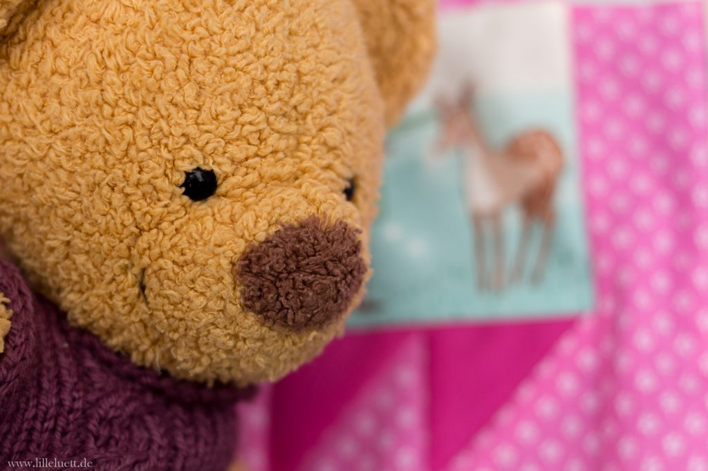Mein September Quiltblock - Bears Paw / Bären Tatze - Patchwork Block