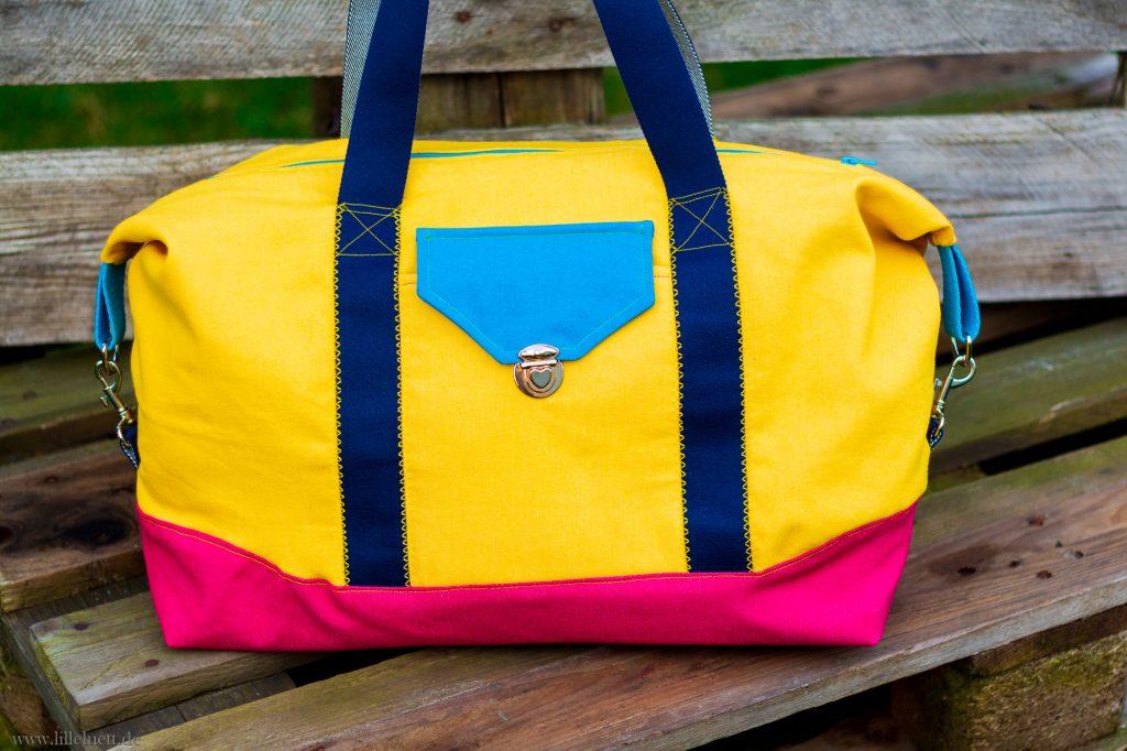 JetSet – Mein 10. Beitrag zum Farbenmix – Taschenspieler – 4 – Sew Along - Color Blocking Tasche Finale