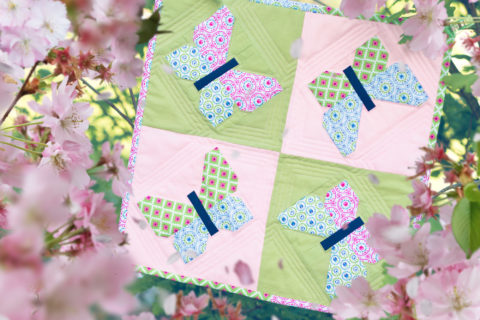Mein Butterfly Dance Mini Quilt - Ellis & Higgs - Patchwork / Quilting